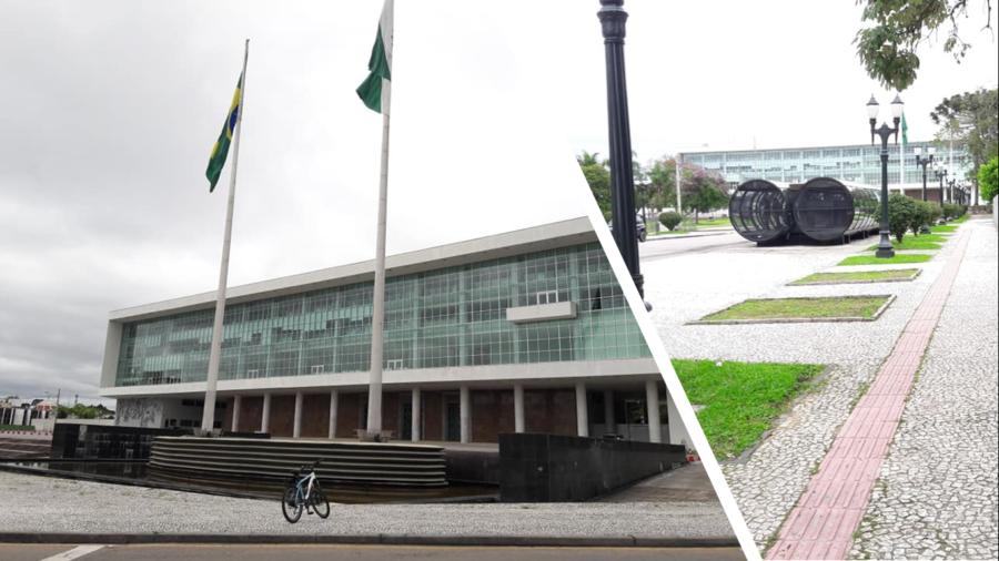 Palácio Iguaçu, sede do governo estadual. Obra inaugurada em 1953