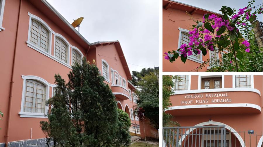 Colégio Estadual Prof. Elias Abrahão (1953) na mais importante Avenida do Cristo Rei: Souza Naves.