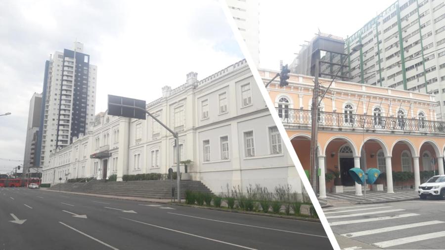 Shopping Curitiba., que anteriormente era a sede do Comando da 5ª Região Militar do Exército Brasileiro (edifício de 1896; a partir de 1989 serviu como instalações do Museu David Carneiro; em 1996 foi inaugurado o Shopping Curitiba) e casarão típico construído no final do século 19.