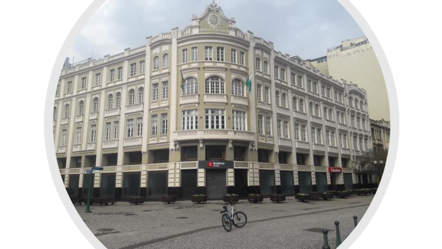 Palácio Avenida de 1929, com imperdíveis espetáculos natalinos que ocorrem desde 1991 (iniciativa do Bamerindus que continuou com HSBC, e atualmente, Bradesco). Um dos maiores cartões postais da cidade.