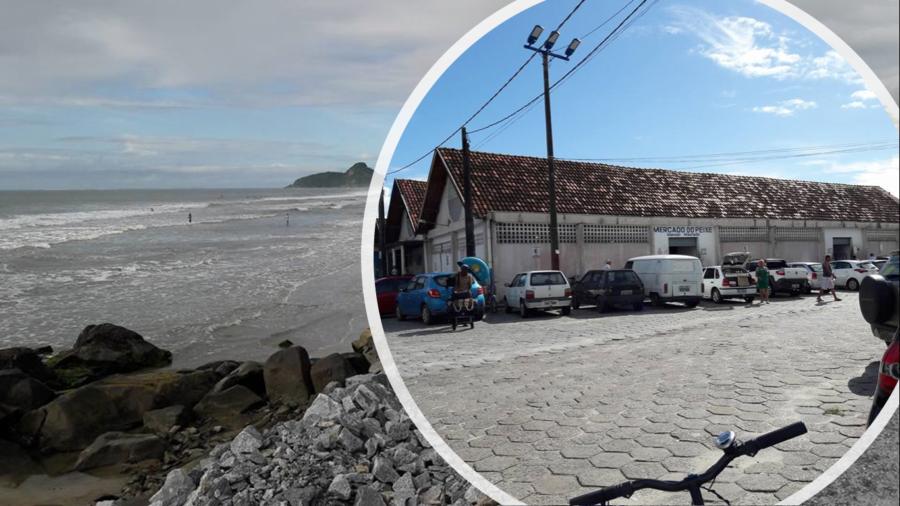 """Mercado Municipal de Pescados, ou como é chamado """"Mercado dos Peixes"""" (construção de 1996), embora desde 1966, os peixes eram comercializados pelos pescadores em barraquinhas instaladas neste local..."""