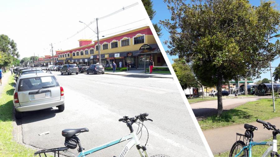 Centro Comercial Arthur Bernardes e as estações tubo do Ligeirinho.