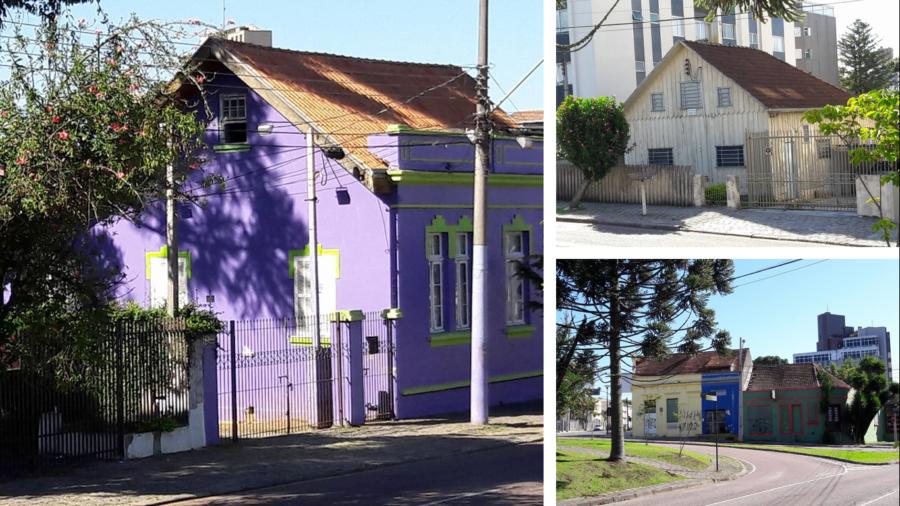 Construções e cores do bairro Seminário...