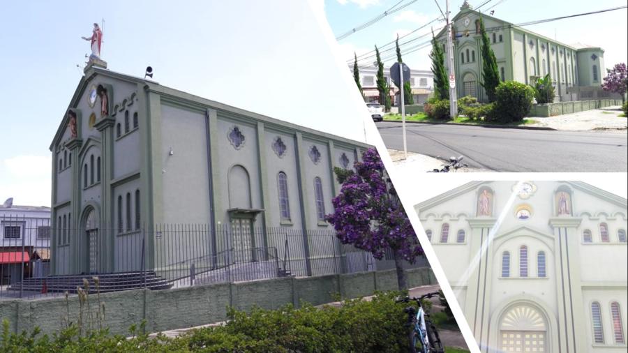 A Igreja de Santa Quitéria.