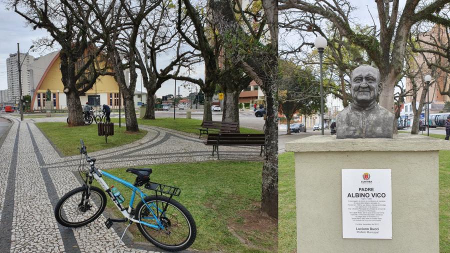 Praça Albino Vico e a Paróquia Santuário São José do Capão Raso.