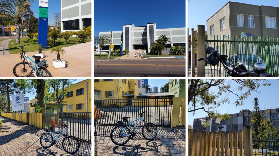 Rua dos Funcionários (Arquivo do Estado, Fundação Educação, Faculdade de Artes da UNESPAR e prédio da FUNDEPAR.