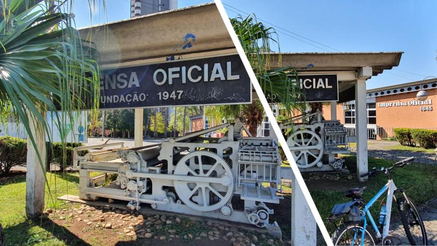 Rua dos Funcionários: Imprensa Oficial do Estado do Paraná (1947).