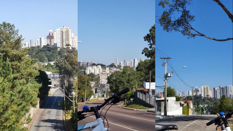 Vista do bairro Ecoville (Campo Comprido) da Campina do Siqueira.