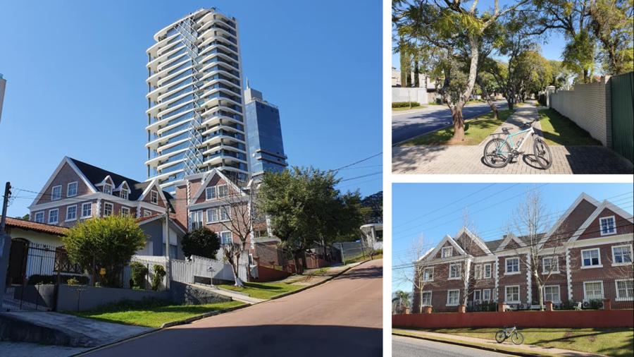 Bairro residencial com arquitetura diferenciada.