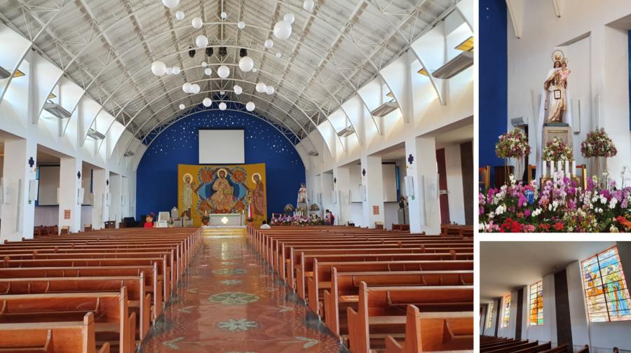 Santuário Nossa Senhora do Carmo (parte interna).