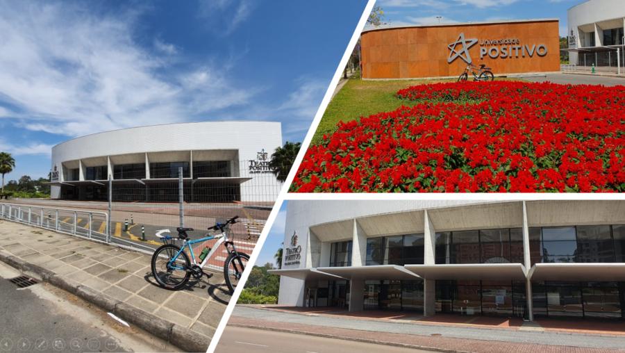 Campus da Universidade Positivo e seu teatro.