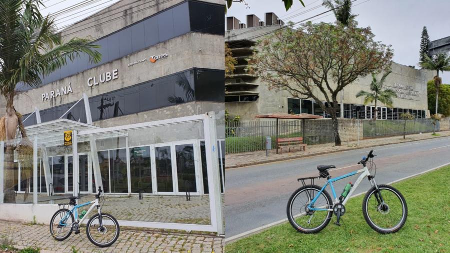 Paraná Clube: Sede Administrativa (à esquerda) e o Parque Social Recreativo (à direita).