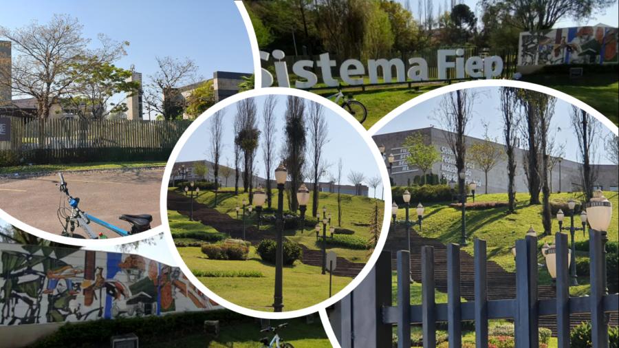 Centro de Eventos da FIEP (Federação das Indústrias do Paraná), incluindo Faculdades da Indústria.