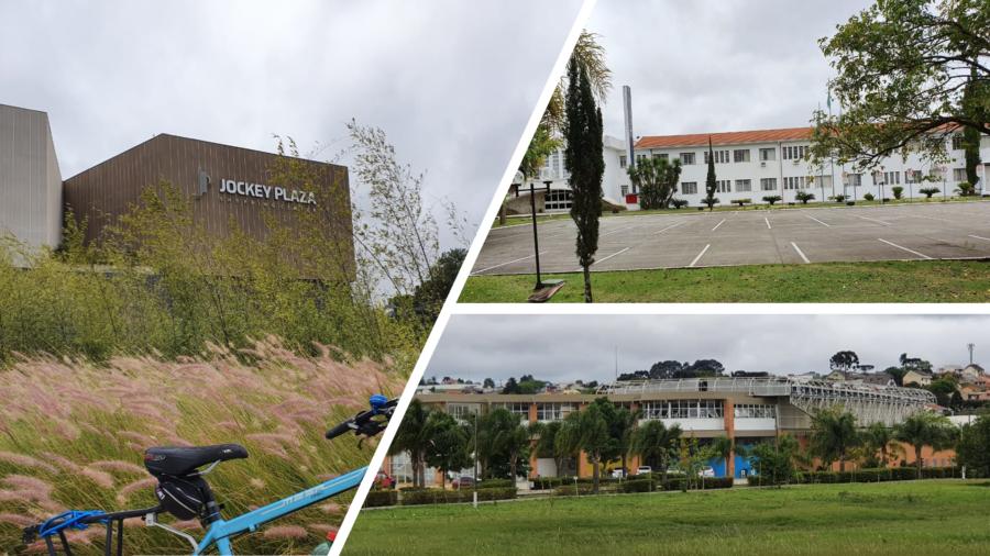 O Shopping Jockey Plaza, a UniBrasil e a Sede Fazenda da Sociedade Thalia (Rua Konrad Adenauer - rica de ciclovias).
