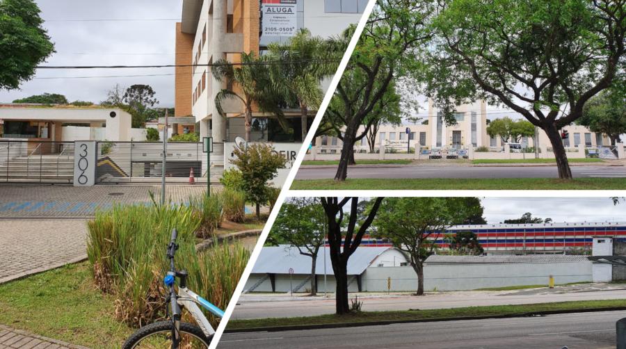 Aroeira Office Park (onde está a Gazeta do Povo), o Espaço Tarumã da SANEPAR e o Colégio Militar do Paraná.
