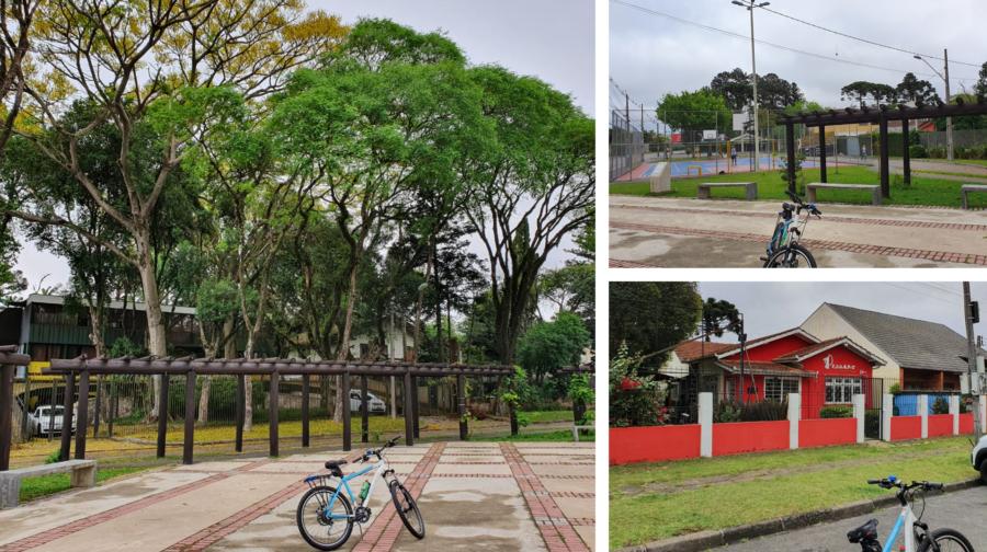 Espaço Eng. Venevérito da Cunha com área de restaurantes.