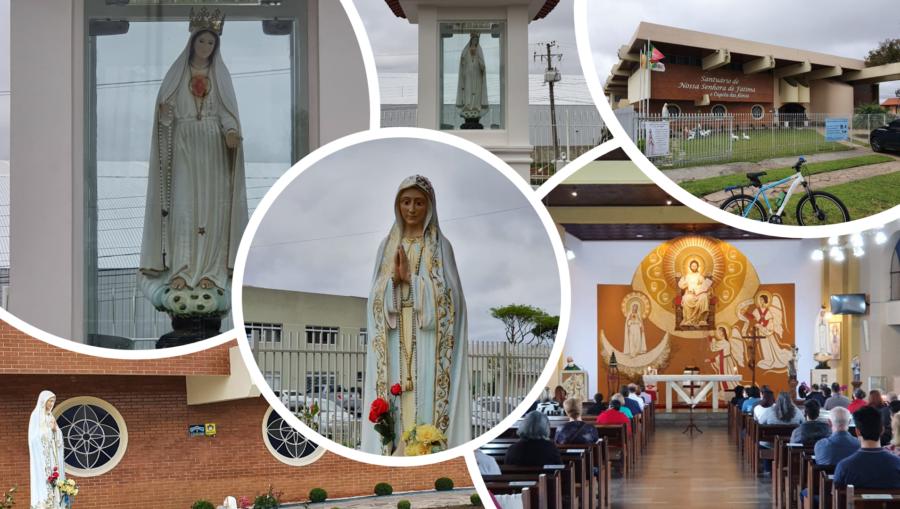Santuário Nossa Senhora de Fátima e a Capela das Almas.