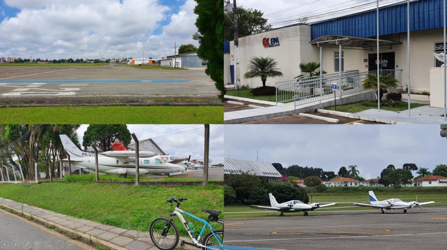 Aeroporto de Bacacheri e a EPA (Escola Paranaense de Aviação).