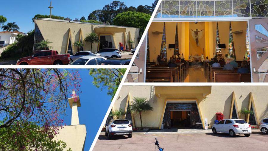 Santuário Nossa Senhora da Salette (La Salette é uma montanha no sudeste francês, próximo à fronteira com Itália, onde ocorreu aparições de Nossa Senhora em setembro de 1846).