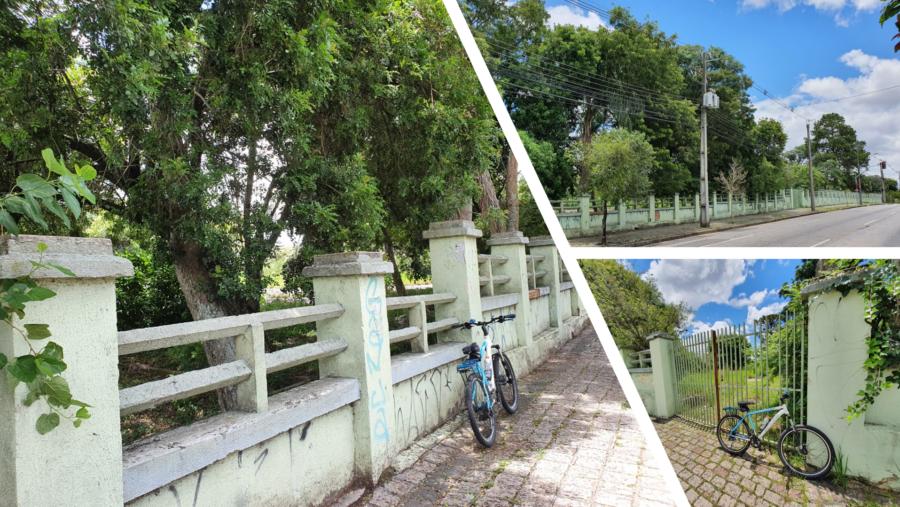 Local onde ficava o antigo Hospital Espírita Psiquiátrico Bom Retiro (Rua Nilo Peçanha), hoje Bosque do Bom Retiro.