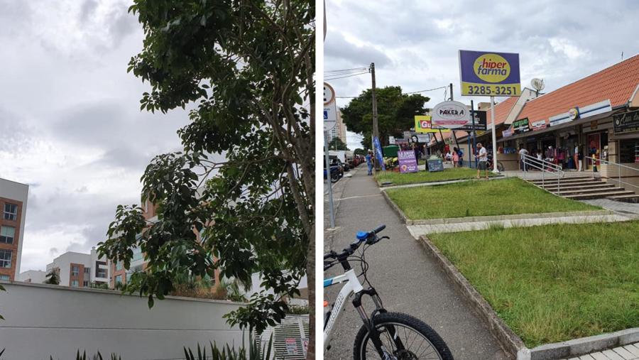 Modernos conjuntos residenciais em Orleans e o comércio intenso na Rua Prof. João Falarz.