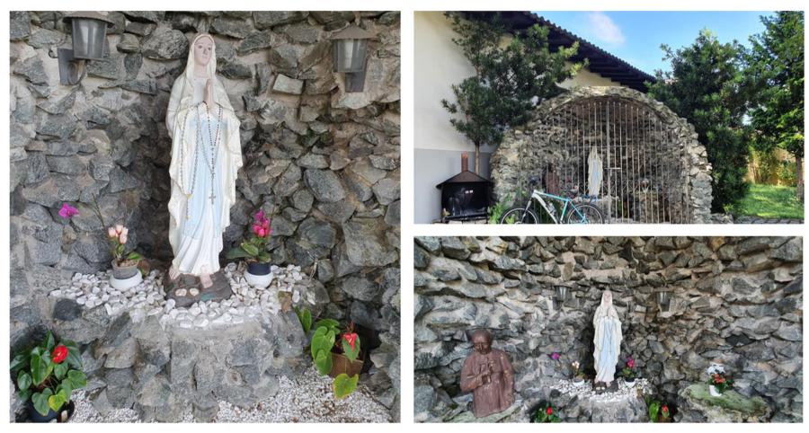 Gruta de Nossa Senhora de Lourdes na Paróquia São José.