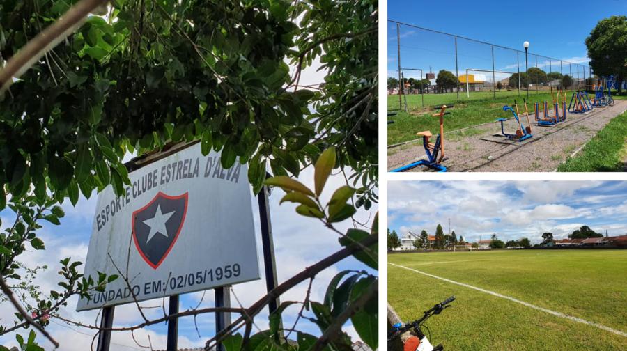 Esporte Clube Estrela D'Alva, Academia ao Ar Livre e o campo do Estrela D'Alva.
