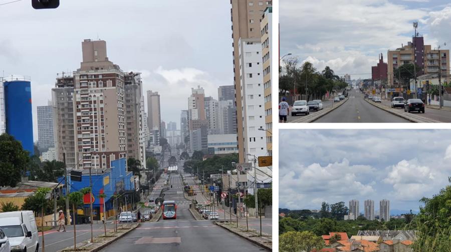 Vista do Boa Vista (à esquerda no sentido Centro e à direita no sentido norte: Santa Cândida).