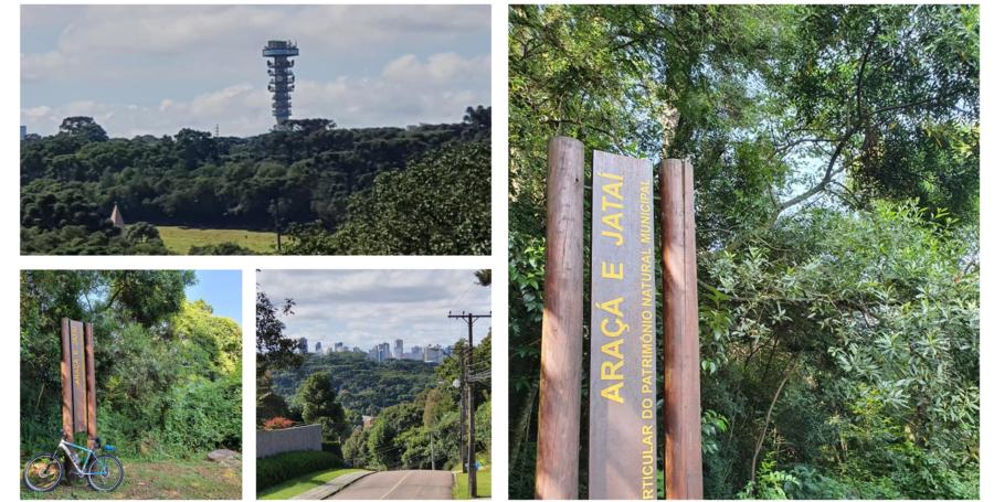 Vista da Torre Panorâmica, do bairro e da Reserva Araçá e Jataí.
